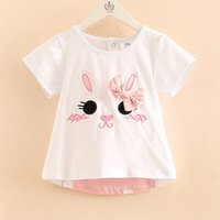 Cute Bunny Design Short-sleeve Tee for Toddler Girl and Girl