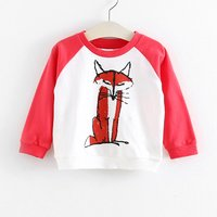 Trendy Cartoon Pattern Print Pullover for Toddler Boy and Boy