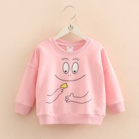 Sweet Cartoon Print Pullover in Pink for Toddler Girl and Girl