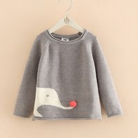 Comfy Elephant Design Long-sleeve Sweater for Girl