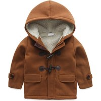 Warm Fleece-lining Long-sleeve Hooded Coat for Toddler Boy and Boy