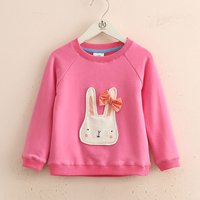 Cute Rabbit Appliqued Long-sleeve Pullover