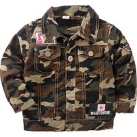 Sweet Camouflage Letter Print Jacket for Baby and Toddler Boy