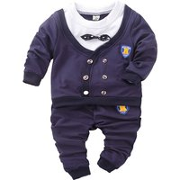 2-piece Faux-two Bow Tie Top and Pants for Boys