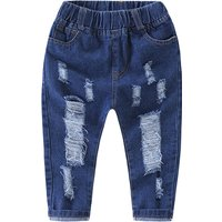 Stylish Ripped Solid Jeans for Baby Boy