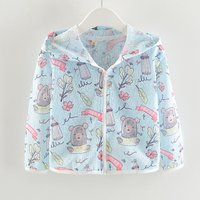 Trendy Cartoon Print Long-sleeve Hoodie for Baby Girl