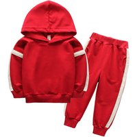 Sporty Striped Hoodie and Jogging Pants for Toddler Boy and Boy