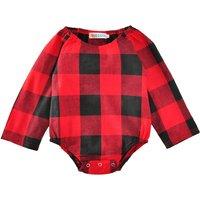 Classic Plaid Long-sleeve Bodysuit for Baby Girl
