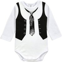 Cool Tie Print Long-sleeve Bodysuit for Baby