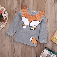 Super Cute Fox Design Long-sleeve Top for Baby