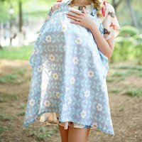 Maternity Floral Printed Cotton Nursing Cover