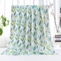 Soft Cartoon Leaf Print Double-layer Blanket