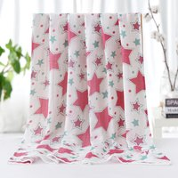 Comfy Butterfly Print Double-layer Blanket