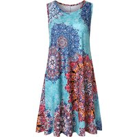 Fashionable Printed Sleeveless Dress