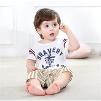 Cool Letter Striped Jumpsuit for Baby
