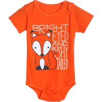 Cute Fox Print Short-sleeve Bodysuit for Baby