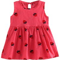 Adorable Strawberry Print Sundress for Baby and Toddler Girl