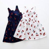 Sweet Cherry Print Backless Dress for Baby Gilr/Girl