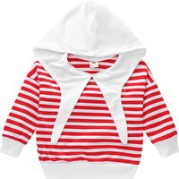 Stylish Stripes Hooded Pullover for Baby Girl/Girl