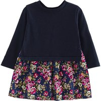 Pretty Fuax-two Floral Print Long-sleeve Dress for Baby Girl/Girl