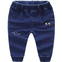 Appliqued LET'S PLAY Jeans for Baby