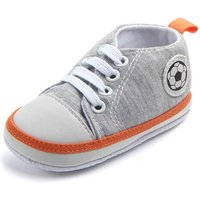 Cool Soccer Applique Canvas Sneakers for Toddler Boy