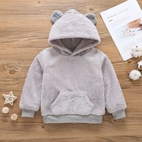 Lovely Ear Detail Fleece Hoodie for Toddler and Kid