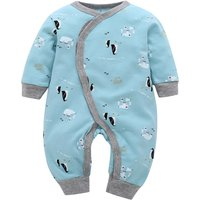 Stylish Penguin Printed Long-Sleeve Jumpsuit for Baby