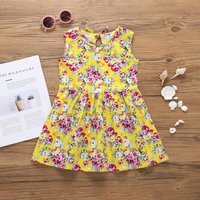 Pretty Floral Print Sleeveless Dress for Toddler Girl and Girl