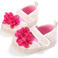 Pretty Flower Decor Hollow Out Velcro Shoes for Baby and Toddler Girl