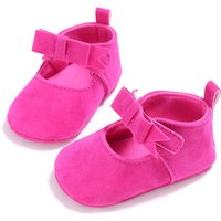 Lovely Solid Bow Decor Velcro Shoes for Baby and Toddler