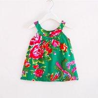Beautiful Peony Print Sleeveless Dress for Toddler Girl and Girl