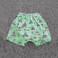 Comfy Tower and Arrow Print Shorts in Green for Baby Boy