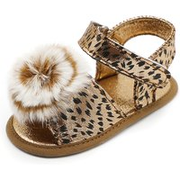 Stylish Spotty Fur Decor Velcro Sandals for Baby and Toddler