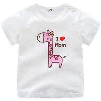 Baby's Cute Giraffe I LOVE Mom Tee