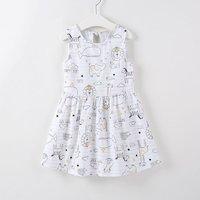 Cute Animal Print Sleeveless Dress for Toddler Girls