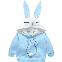 Chic Rabbit Design Hoodie for Toddler Girl and Girl