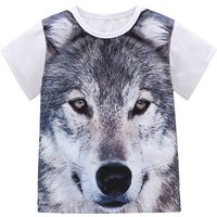 Cool 3D Wolf Print Short-sleeve Tee for Baby and Toddler Boy