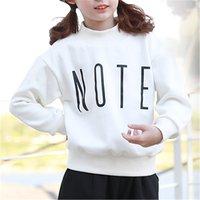 Stylish Letter Print Long-sleeve Pullover for Girl