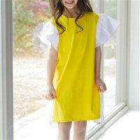 Fashionable Flutter-sleeve Dress