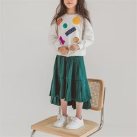 Fashionable Sequined Long-sleeve Pullover and Skirt Set