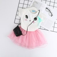 Unique Cat Print Tulle Dress for Baby and Toddler Girl