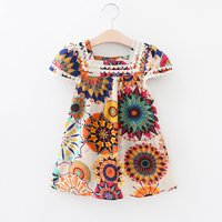 Gorgeous Floral Cap-sleeve Lace Dress for Toddler Girl and Girl