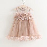 Wonderful 3D Flower Tulle Dress for Baby and Toddler Girl
