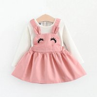 Baby and Toddler Girl's Lovely Long Sleeve Top and Rabbit Pinafore Dress Set