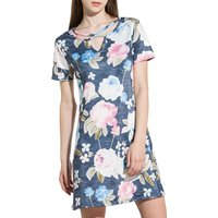 Women Floral Printed Half-sleeve Dress