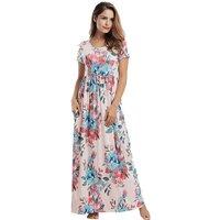 Pretty Blossom Print Full-length Dress for Women