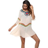 Color Block Hollow Out Sun-proof Dress for Women