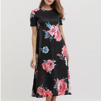 Pretty Short Sleeves Floral Dress for Women