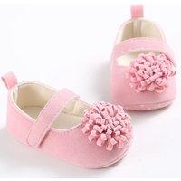 Elegant 3D Flower Velcro Mary Janes for Baby Girl
